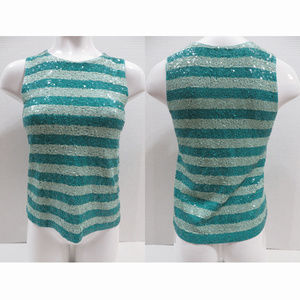 J.Crew top XS Sequin Striped Shell sleeveless